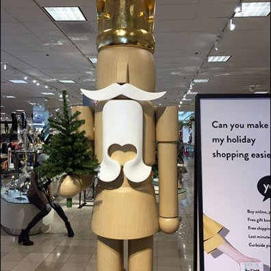Giant Wood Nutcracker Visual Merchandising