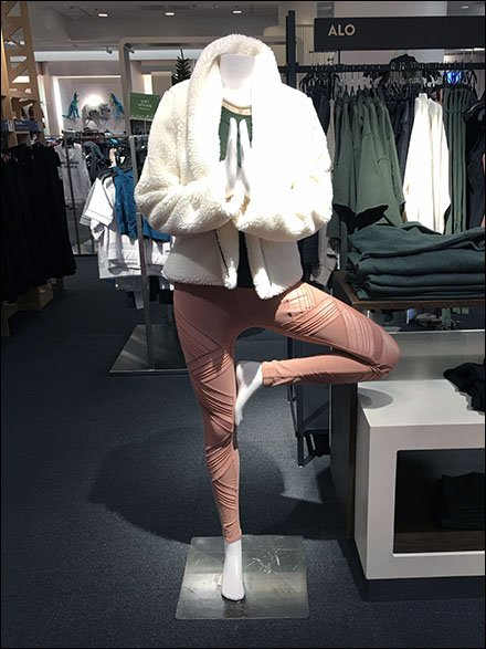 Winter Fur Athleisure Display at Nordstrom