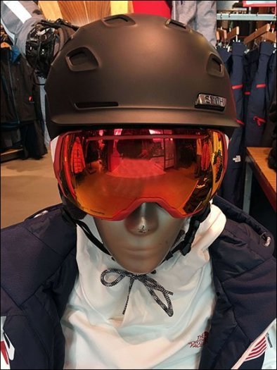 North Face Snowboarding Duo Helmeted