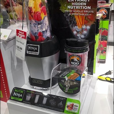 Table-Top Pedestal Display for Nutri Ninja Extractor