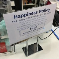 Happiness Policy Table-Top Sign by Osh Kosh