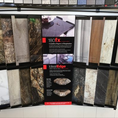 Formica Slide-In Sample Wall Display Unit