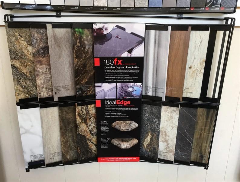 Formica Slide-In Sample Wall Display Unit