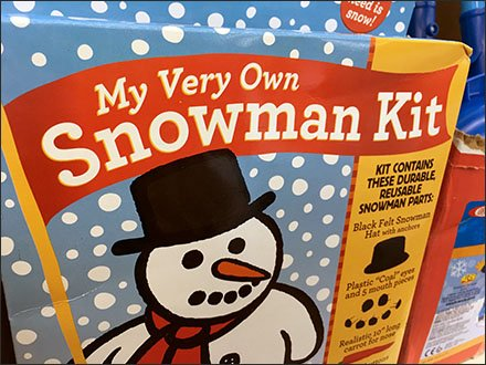 Snowman Kit Seasonal Merchandising