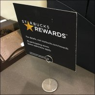 Starbucks Rewards Table-Top Coill Clip Feature