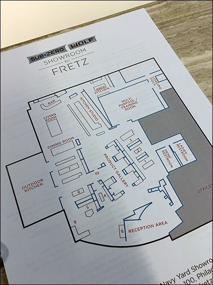 The Best of Showroom Propping and Staging - Sub-Zero Showroom Layout Map Handout