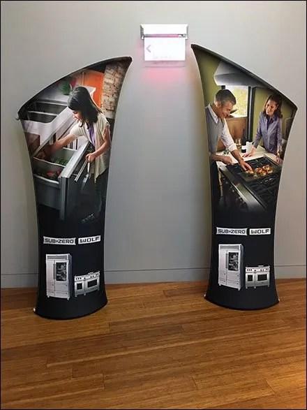 Sub-Zero Showroom Branding Arcs
