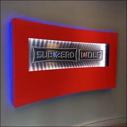 Sub-Zero Retail Fixtures - Sub-Zero Showroom Wall Branding Sign
