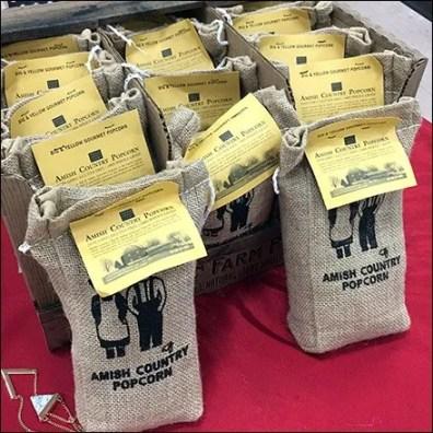 Amish Country Popcorn Burlap Bag Feature