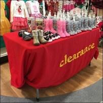 Babies R Us Clearance Table Drape