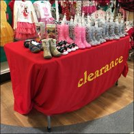Babies R Us Clearance Table Drape