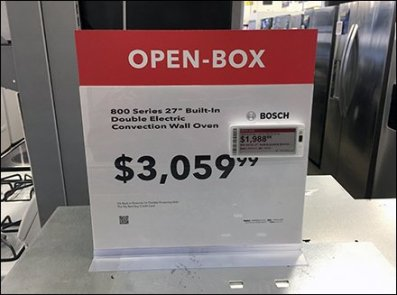 Bosch Open Box Discount Digital Price Ticket