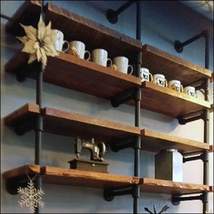 Cast Iron Pipe Shelving VMSD Look Book Jan 2018 Feature
