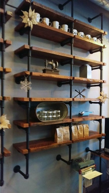 Industrial Chic Iron Pipe Shelving is Custom