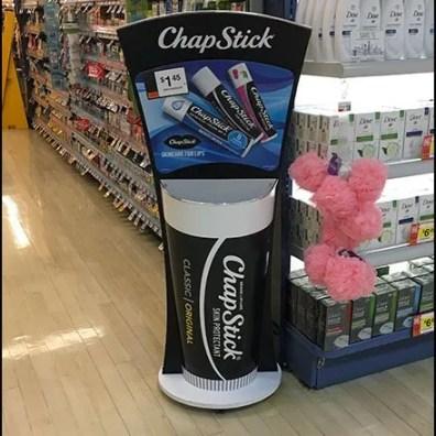 ChapStick Lip Balm Bulk Bin Tube Display