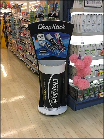 ChapStick Lip Balm Bulk Bin Tube Display