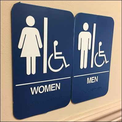 Coed Restroom Via Ganged Signage Feature
