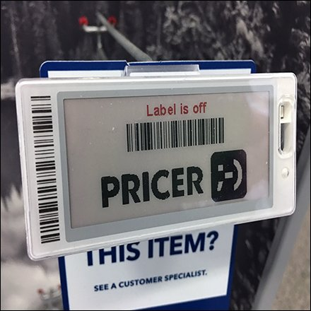 Digital Price Ticket For Out-Of-Stock Items