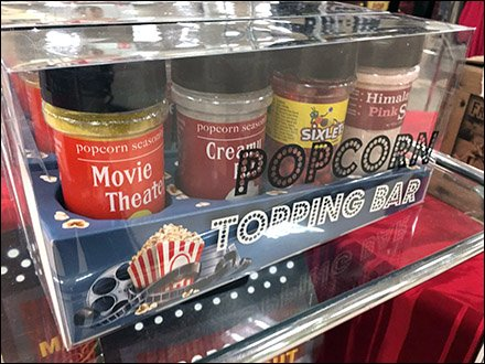 Gourmet Popcorn Topping Bar Selection