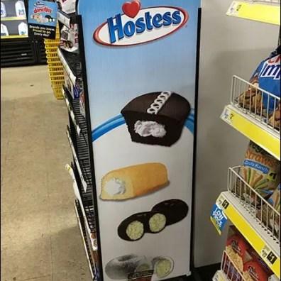 Hostess Brands Freestanding Rack