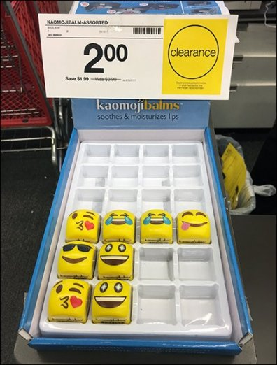 Emoji Lip Balm Counter-Top Merchandising