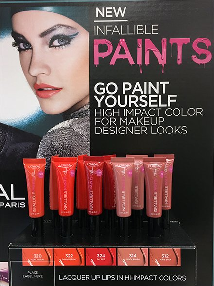 Infallible Color-Coded Lip Gloss By L'Oreal - L'Oreal Display and L'Oreal Merchandising