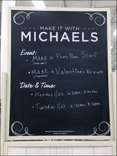 Make It With Michaels Calendar Events