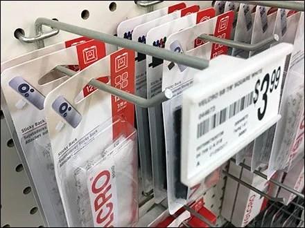 Velcro Scan Hook Slide In Label Holder