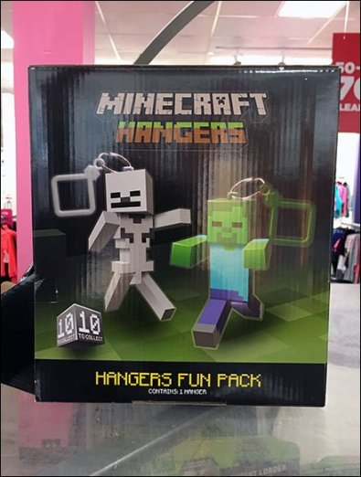 Minecraft Gravity Feed Cube Dispenses Hangers