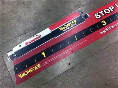 Monroe Floor Graphic Stops 10 Feet Short