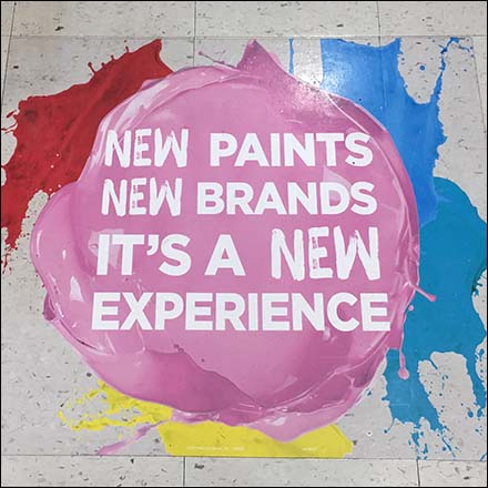 New Paints, New Experience Floor Graphic Feature