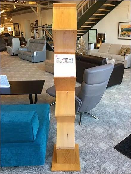 Pine ZigZag Literature Holder Tower