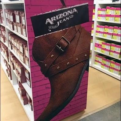 Endcap Billboarding In The Shoe Department