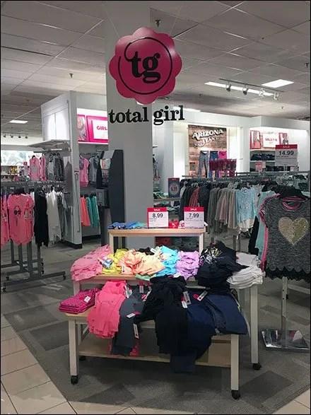 Total Girl Department Branding Ceiling Sign