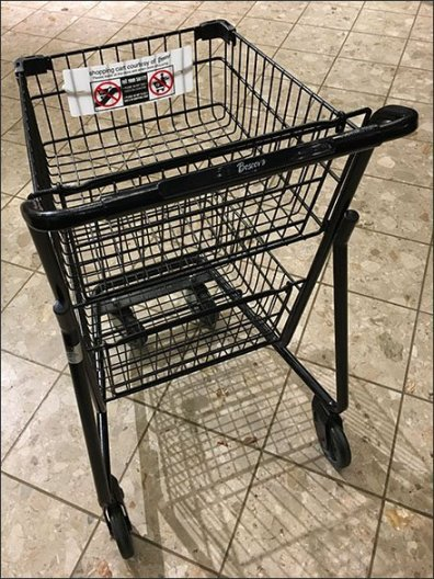 Department Store Branded Shopping Cart