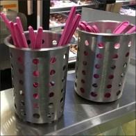 Coffee Shoppe Perforated Metal Utensil Holders