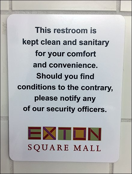Mall Restroom Security And Cleanup Directions