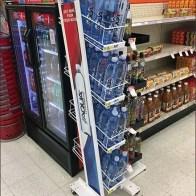 Gravity-Feed Mobile Floorstanding Beverage Rack