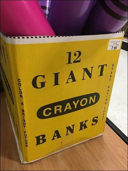 Giant Crayon Bulk Bin Disorganization
