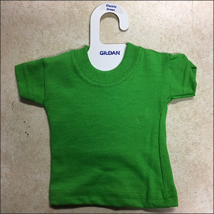 Gilban Miniature T-Shirt Samples Hangered Feature