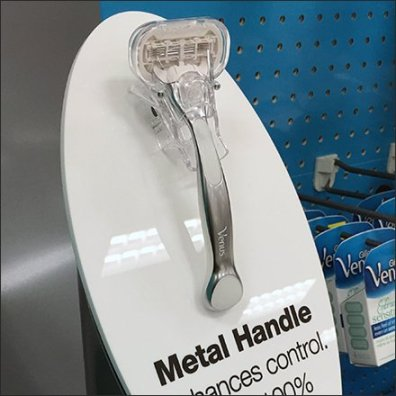 Gillette Venus Endcap Display in Blue Feature1