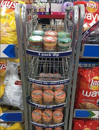 Gravity Feed Tostitos Three-Pack Rack 2