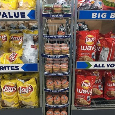 Gravity Feed Tostitos Three-Pack Rack 3