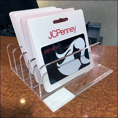 Hair Salon Gift Card Acrylic Holder