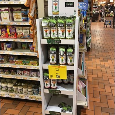 Organic Real Brewed Tea Display is Honest