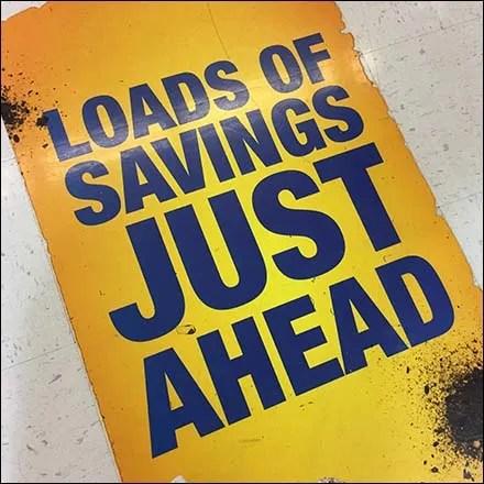 Loads of Savings Ahead Floor Graphic