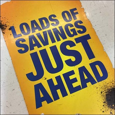 Loads of Savings Ahead Floor Graphic