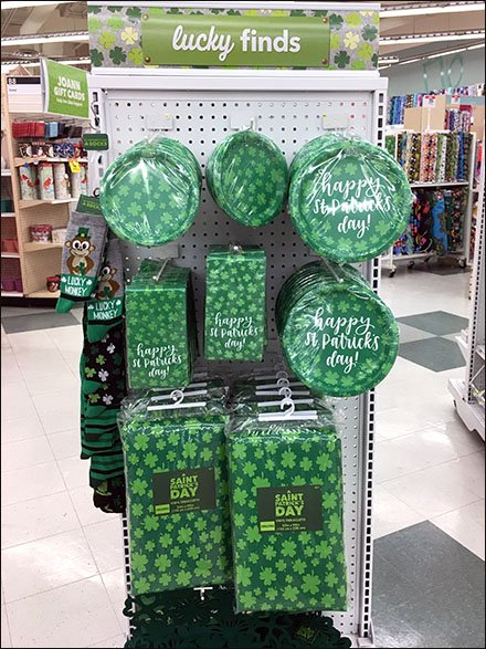 Lucky Finds St. Patrick's Day Endcap Header