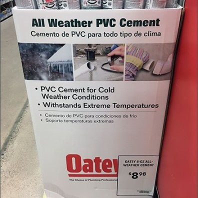 Quarter Pallet Corrugated Oatey PVC Cement Display
