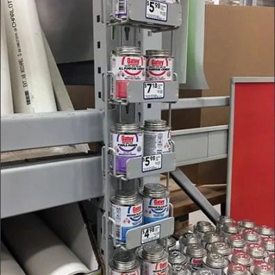 PVC Solvent Double Can Strip Merchandiser 2